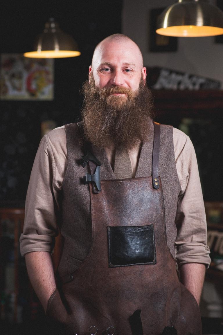 Headshot of Barber at Barbertown Worcester