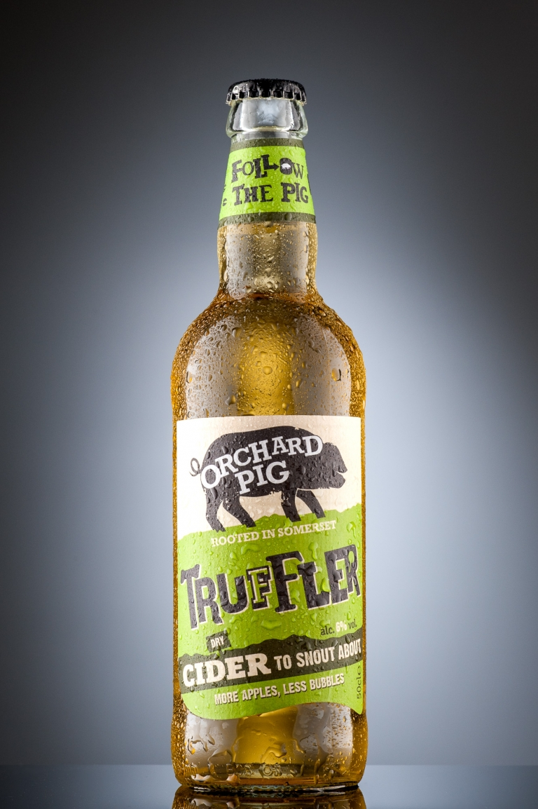 Product Photography - Orchard Pig Cider Somerset