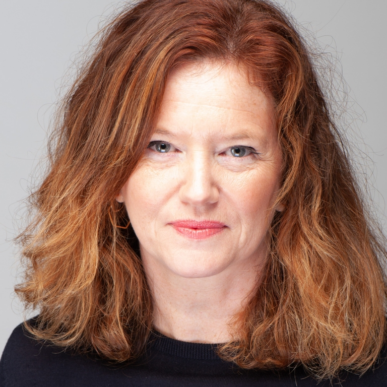 Studio headshot portrait of Sarah Harrison