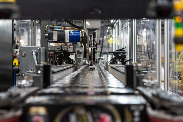 Hereford Contract Canning - packaging machine close-up