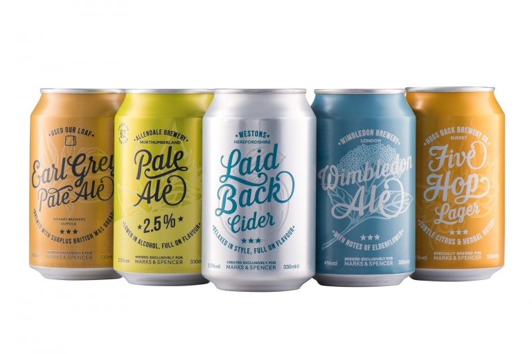 Canned drinks product photography for Hereford Contract Canning